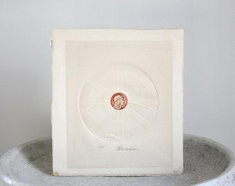 Rare Intaglio Etching Limited Edition 3/50 Martin Barooshian c. 1980s 11 x 9 3/4 inches
