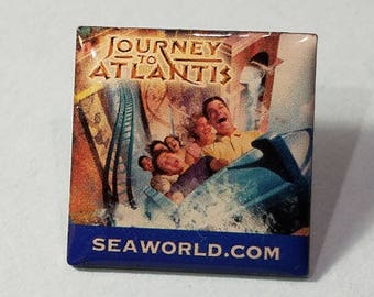 Seaworld Journey to Atlantis Pin, Journey to Atlantis Lapel Pin, Journey to Atlantis Hat Pin, Lapel Pins, Hat Pins