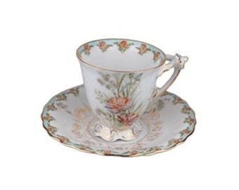 Antique Krautheim & Adelberg Selb Footed Cup and Saucer Set