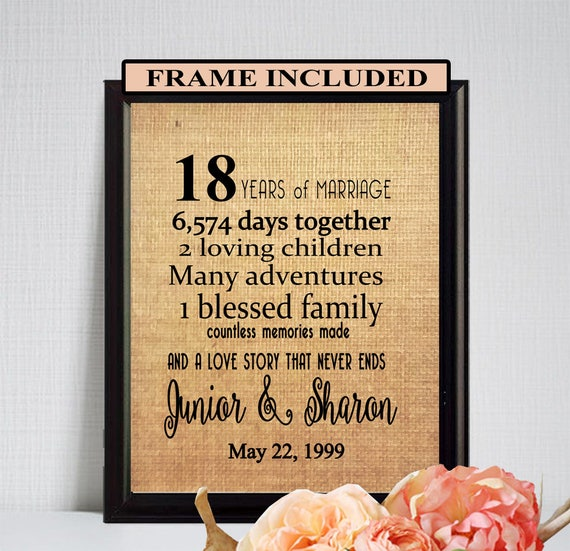 18th Wedding Anniversary Gift Ideas For Her: 18th Wedding Anniversary 18th Anniversary Gift
