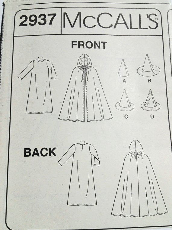 Harry Potter Cloak Sewing Pattern Images - origami instructions easy ...