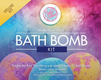Bath Bomb Kit-Bath Bomb Deluxe Kit-Two Color Bath Bomb Kit-Spa Party-Toys and Games-Kids Crafts-Kids Activities-Gifts for Kids-DIY kits