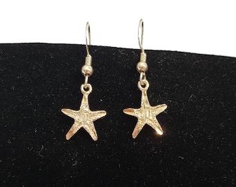 Sterling Silver Starfish Earrings, Sterling Starfish Earrings, Starfish Jewelry, Starfish, Earrings