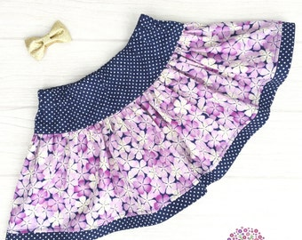 Twirly Skirt - Purple Flowers