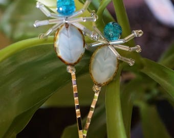 Beaded Wire Bug Hair Accessories