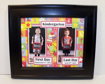 First Day vs. Last Day of School Frame - Personalized - Back To School - 8x10 Deluxe Frame Included