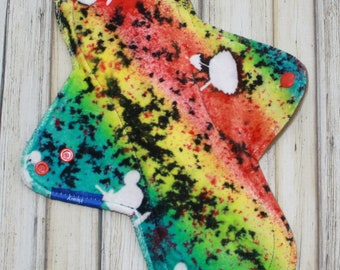 """11"""" heavy cloth pad, overnight cloth pad, hand dyed pad, incontinence pad, made by mothers"""