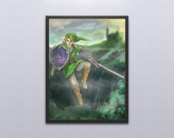 Legend of Zelda Digital Painting - Link