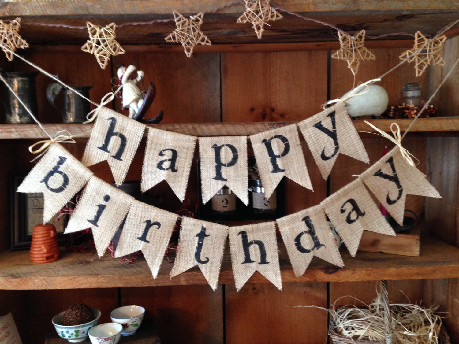 Super Happy Birthday Banner Bunting KD09
