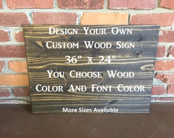 Custom Signs, Custom Wood Signs, Personalized Sign, Design Your Own Sign, Wood Sign, Wooden Signs, Rustic Home Deocr, Rustic Wall Decor