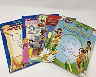 How and Learn to Draw Disney Pixar Characters Fairies Princesses Mickey Toy Story Lot