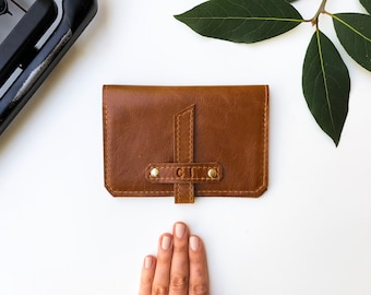 Genuine Leather Passport Case - The Voyager - Honey (color variations available)