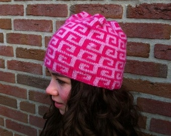 Skimuts for girls in two colors pink