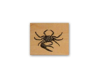 Crab mounted rubber stamp beach ocean seashore, marine life, coastal, nautical, summer vacation CM2