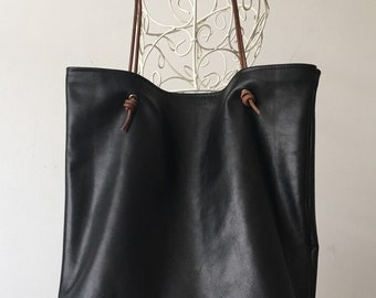 Black Leather | Tote Bag | Super Soft | Shoulder Bag