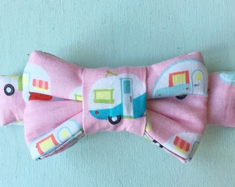 Camper Airstream Print Bow Tie For Cats