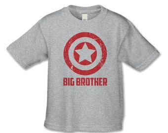 Superhero Matching Sibling Shirt - Big Brother Shirt - Distressed Personalized Tshirt - Create a Shirt Set for Dads, Son, Baby, Sisters