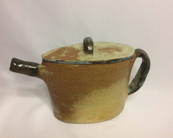 Ceramic Slab Made Rustic Teapot with Lid