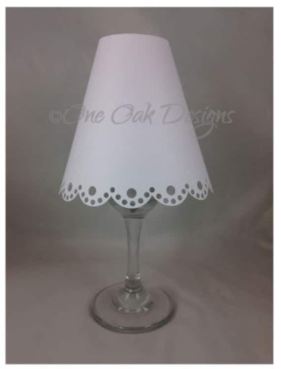 Wine glass lamp shade lampshade scalloped 3d cut file svg pdf aloadofball Images