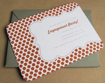 Modern Party Invitation - Holiday, Birthday, Housewarming, Engagement, Bachelorette, Bridal Shower