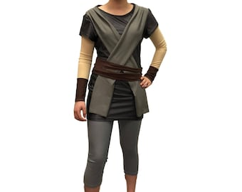 Ray Star Wars running costume- shirt and capris -optional arm sleeves