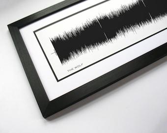 Sound wave art - The Wolf : Song Wall Art Print, Canvas Design, Framed Print.