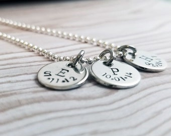 Personalized initial charms Initial necklace Sterling silver Initial Charm Necklace Personalized Necklace Monogram