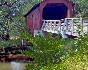 Sugar Creek Covered Bridge-8x10-Color Fine Art Photo-Certificate of Authenticity-Signed by Artist