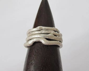 recycled silver branch rings
