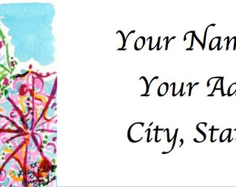 LILLY PULITZER Scene-Inspired Personalized Address Labels: 24 Scenes Available!