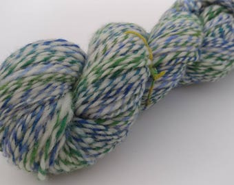 Handspun Corriedale, BFL yarn - 3.8 oz, 2 ply worsted weight