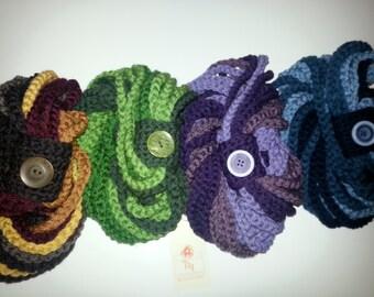 Multicolor Crochet Chain Scarf