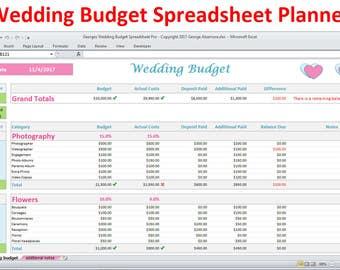 wedding planning budget worksheet