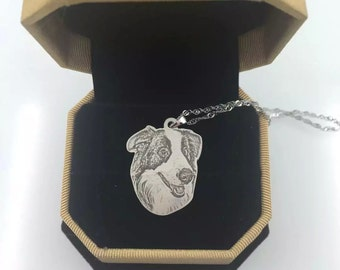 Pet Memory Necklace, Custom Cat and Dog Memorial Jewelry, Dog Portrait Necklace, Dog Photo Necklace, Portrait Pendant, Portrait Necklace