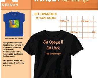 Neenah Jet Opaque II Inkjet Heat Transfer Paper for Dark Colors 8.5x11 (15 sheets)