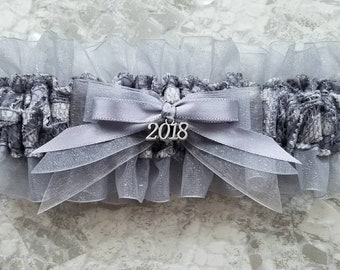 Platinum Lace and Glitter Prom Garter: (charm sold separately in my shop)