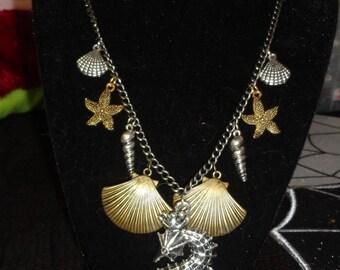Shells & seahorse necklace
