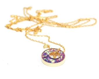 Glitter Box collection Long Layering Necklace - Sherbet