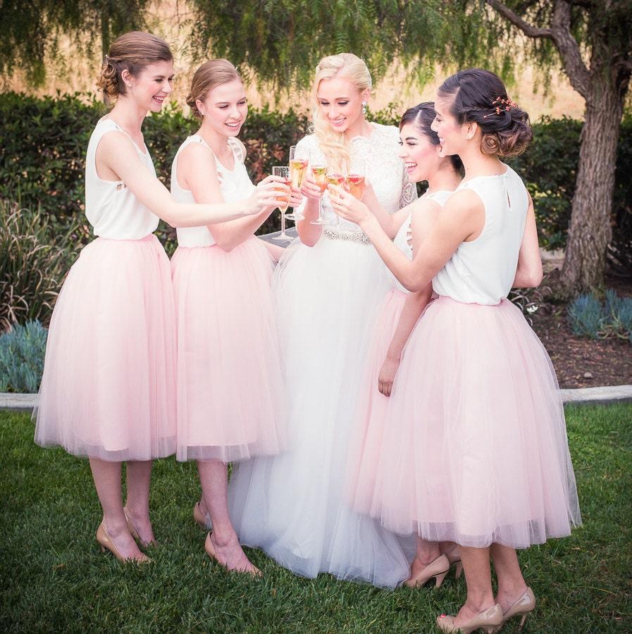 Tulle skirt extra full skirt blush pink tulle skirt chic zoom ombrellifo Choice Image