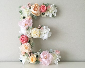 Floral Letter, Floral Initial, Nursery Letter, Flower Letter, Nursery Wall Art, Baby Gift, Shabby Chic, Boho Chic Nursery, Nursery Art