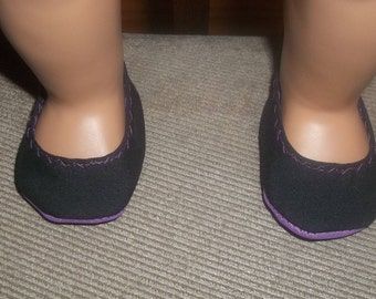 American 18 Inch Doll Clothes Shoes black and purple