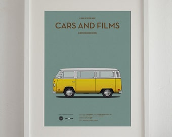 Little Miss Sunshine car movie poster, art print A3 Cars And Films, home decor prints, illustration print. Van art