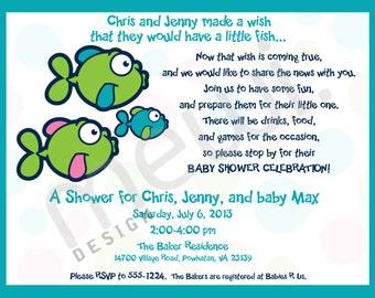 Fish Baby Shower Invitation (DIGITAL FILE)