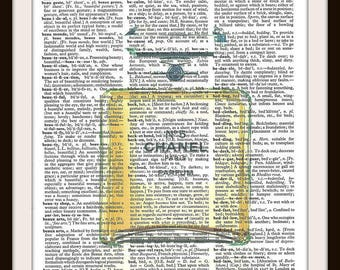 Chanel no 5-  Vintage Dictionary Art Print--Fits 8x10 Mat or Frame