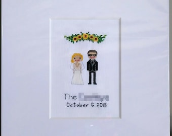 Cross Stitch Guest Book,Alternative Wedding Guest Book,Unique Guest Book,Customized,Personalized,Anniversary,Wedding Gift,Guest Book,