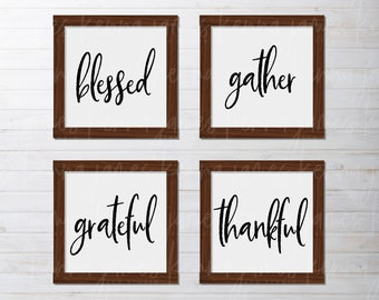 Blessed svg | Gather svg | Grateful svg | Thankful svg | Farmhouse svg | Farmhouse Style svg | Thanksgiving svg | SVG | DXF | JPG | cut file