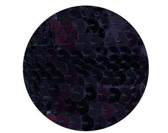 Sequin Trim 6mm Navy Midnight Blue Metallic Flat Stitched Sequin String Trim