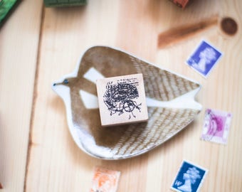 Anatomy series: Brains - decorative wooden planner stamp suitable for planning, journaling and happy mail -BRW-