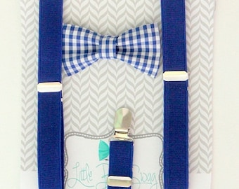 Baby Boy Bow Tie Suspender Set, Boys Bow Tie, 1st Birthday Boy, Ring Bearer Outfit, Boys Suspenders and Bow Tie, Wedding Bow Tie, Weddings