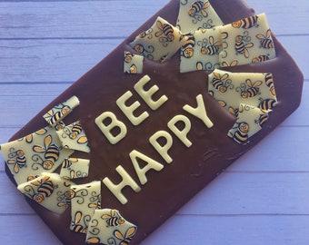 Bee happy bar - bee chocolate - bee gift